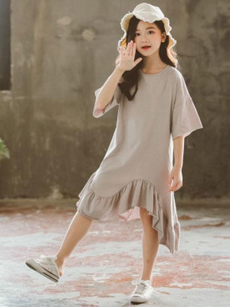 mygirlmyboy童装品牌2019春夏休闲时尚连衣裙