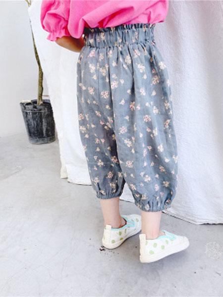 永福来童装品牌2019春夏棉麻防蚊裤