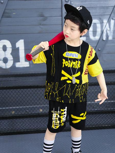 倍芘爱童装品牌2019春夏嘻哈街舞运动服两件套