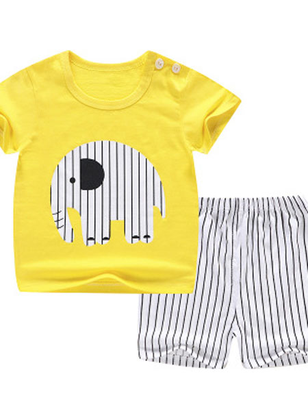 易卡通童装品牌2019春夏儿童短袖套装