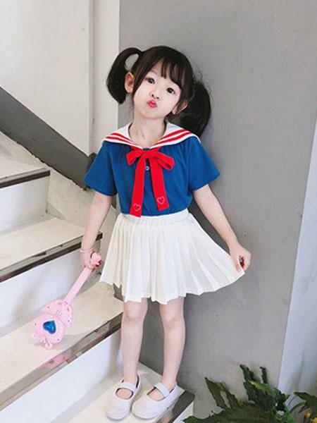 锦瑞祥童装品牌2019春夏儿童纯棉短袖套装