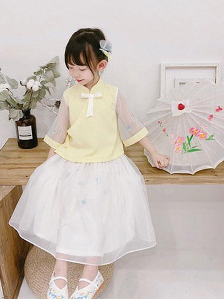 锦瑞祥童装品牌2019春夏民族风童装两件套儿童古装襦裙