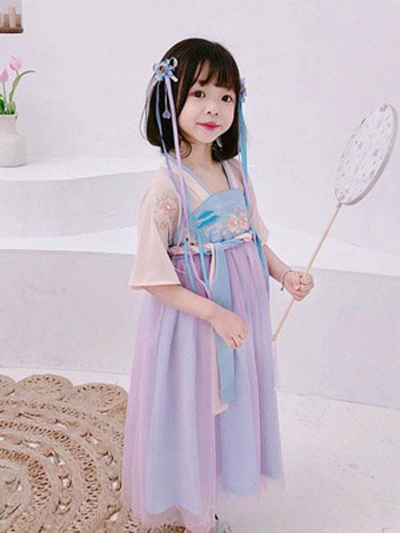 锦瑞祥童装品牌2019春夏儿童民族风改良汉服裙