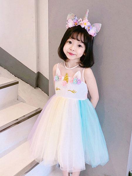 锦瑞祥童装品牌2019春夏女童连衣裙