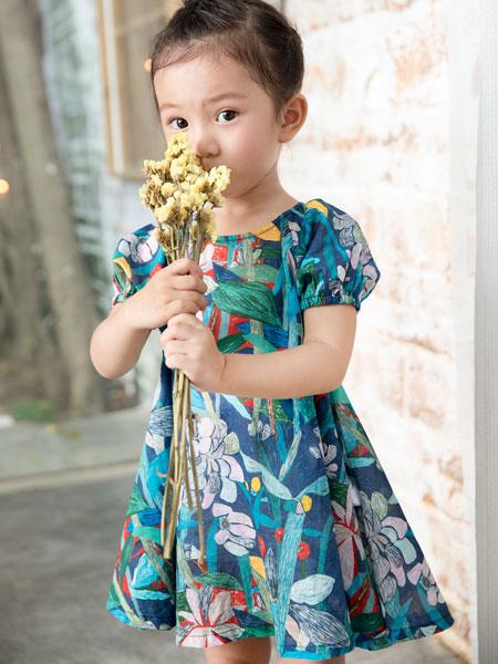 棉绘童装品牌2019春夏洋气印花连衣裙
