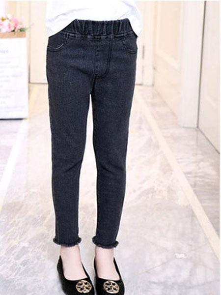 喆思喆童装品牌2019春夏儿童小脚裤女大童修身裤