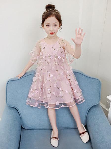依珊恋童装品牌2019春夏蓬蓬纱蕾丝公主裙