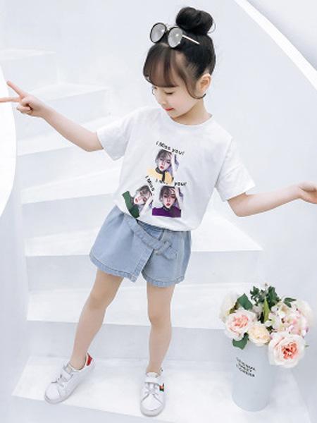 依珊恋童装品牌2019春夏时髦洋气裙裤两件套