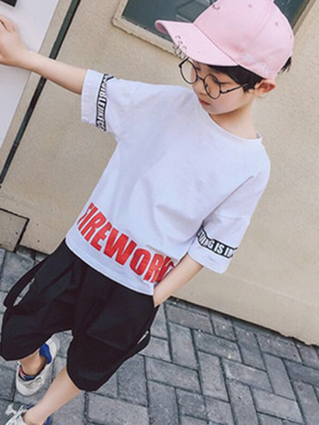 依珊恋童装品牌2019春夏中大童儿童短款纯棉打底衫