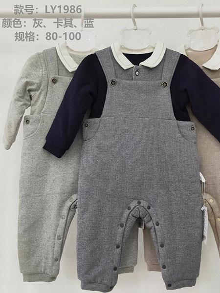 欧米瑞童装品牌2019春夏潮背带裤纯棉两件套