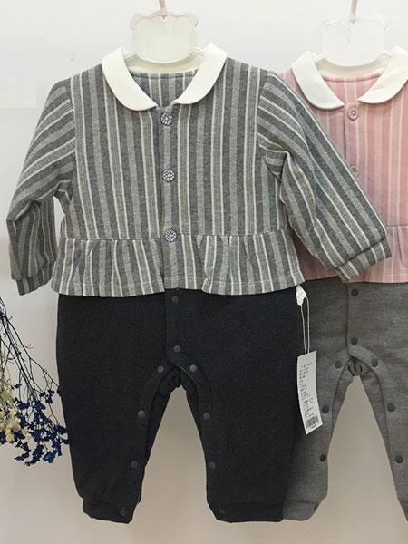 欧米瑞童装品牌2019春夏新款洋气娃娃衫格子上衣棉麻女童长袖T恤