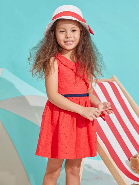 思佳美儿童装品牌2019春夏舒适透气薄款纯棉连衣裙