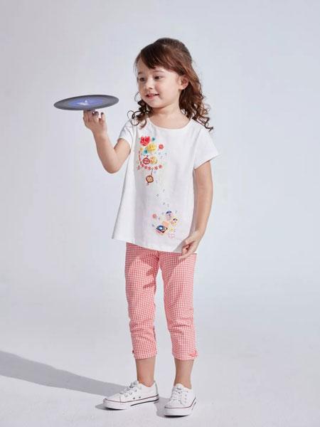 思佳美儿童装品牌2019春夏新款女童短袖T恤儿童上衣T恤