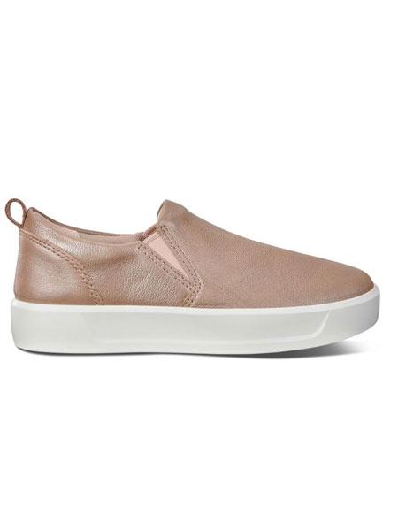 ecco童鞋品牌2019春夏新款两侧镶弹力布一脚蹬休闲百搭运动鞋