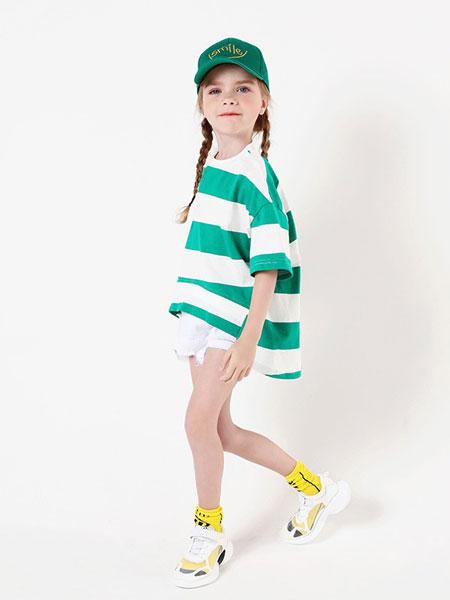 乔多米童装品牌2019春夏儿童圆领时尚半袖上衣潮