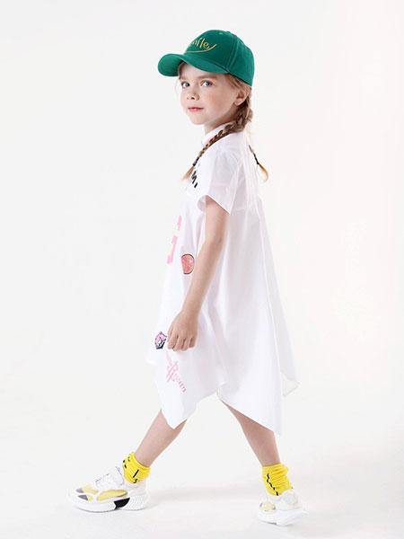 乔多米童装品牌2019春夏女童新款洋气公主A字裙