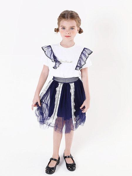 乔多米童装品牌2019春夏纯棉亲肤短袖T恤衫上衣