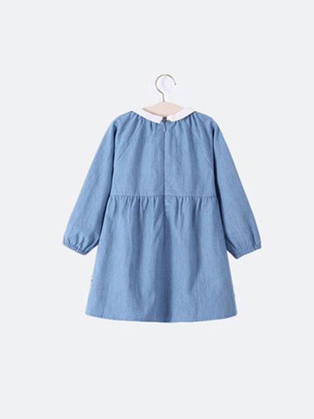 ELLE baby童装品牌2019春夏新款韩版女童牛仔长袖连衣裙