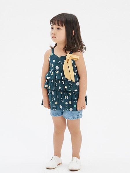 马沫含Mamohan童装品牌2019春夏新品潮款女童韩版吊带套装裙
