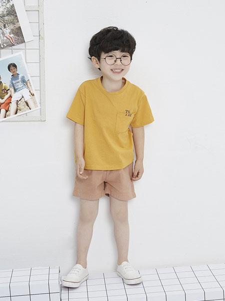 马沫含Mamohan童装品牌2019春夏印花简猫咪短袖T恤