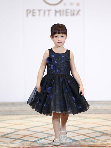 贝的屋童装品牌2019春夏女童婚纱礼服裙女童蓬蓬裙演出服