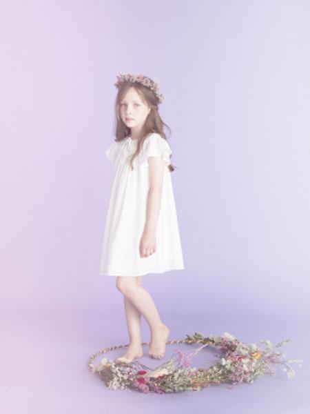 LOUIS LOUISE童装品牌2019春夏唯美白色连衣裙