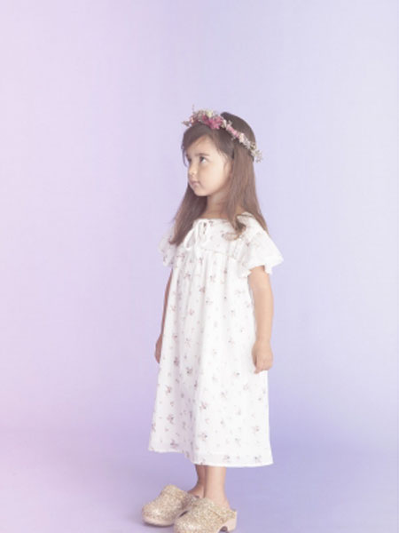 LOUIS LOUISE童装品牌2019春夏新款洋气儿童百褶全棉裙