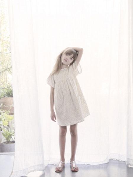 LOUIS LOUISE童装品牌2019春夏甜美褶皱连衣裙
