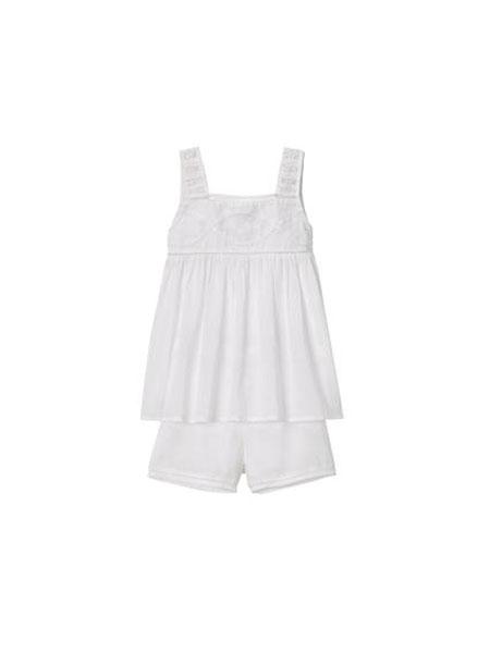 FAUNE童装品牌2019春夏新款 女童 刺绣拼接上衣