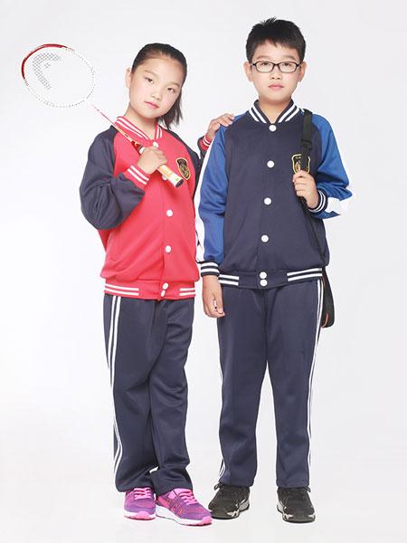 帝峰萨顿童装品牌2019春夏墨绿纯棉棒暗扣球服运动装
