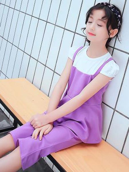 小韩豆童装品牌2019春夏新款时尚休闲短袖短裤两件套
