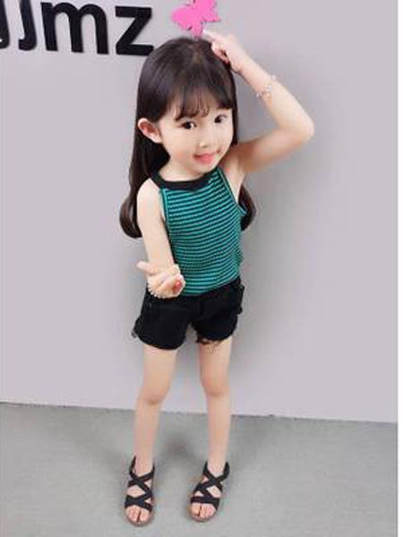 小韩豆童装品牌2019春夏新款吊带背心打底衫韩版薄款无袖上衣