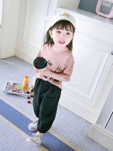 小韩豆童装品牌2019春夏新款儿童韩版时髦中大童时尚洋气潮套装