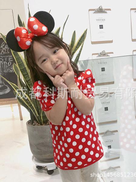 大M/CI童装品牌2019春夏新款复古风童裙波点泡泡袖女童连衣裙