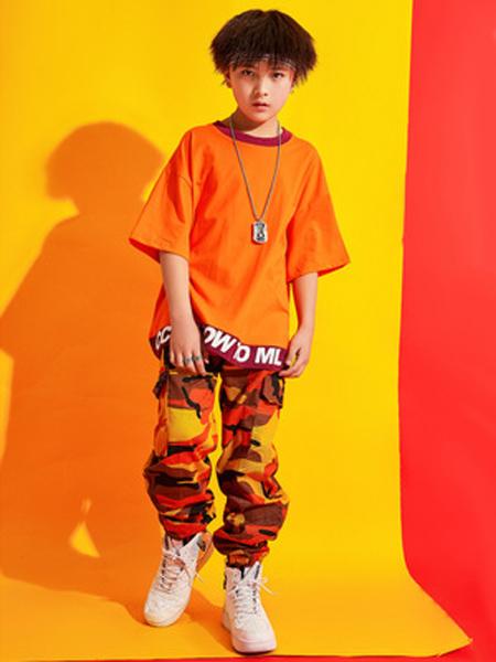 戊寅童装品牌2019春夏少儿街舞服潮装松短袖男女童hiphop演出服嘻哈儿童街舞套装