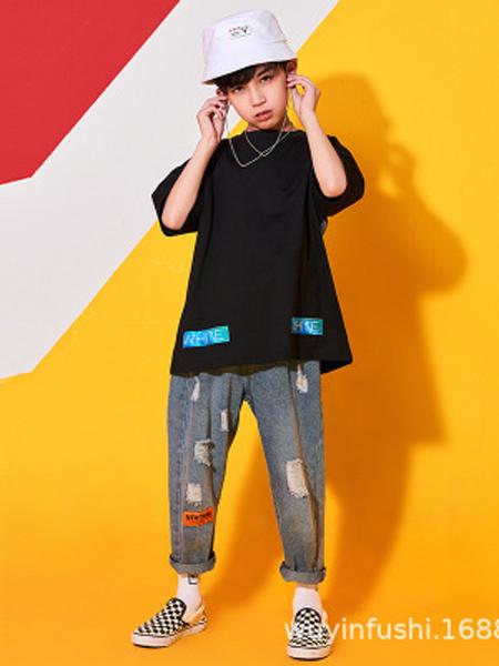 戊寅童装品牌2019春夏六一儿童街舞服装男童套装少儿嘻哈衣服
