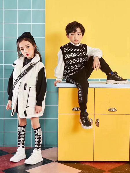 世纪龙童品童装品牌2019秋新款时尚工字型外套