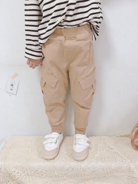 芸儿童装品牌2019春夏新款中性款工装裤哈伦裤弹力休闲裤