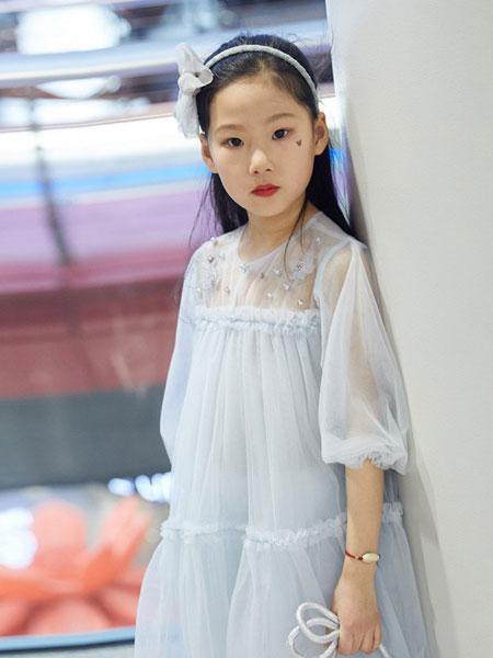 V-rules童装品牌2019春夏新款高品质纯棉三层细纱礼服公主连衣裙