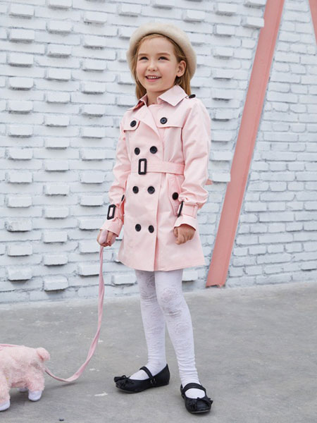 摩乐豆童装品牌2019秋季韩版洋气英伦中长款休闲简约外套