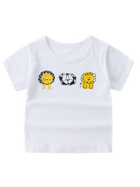 龙港迪泰童装品牌2019春夏新款新款韩版时尚纯棉圆领短袖t恤