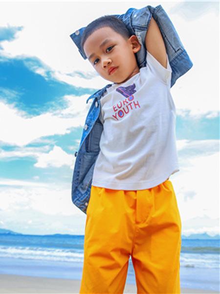 欧恰恰童装品牌2019春夏新款韩版时尚宽松休闲圆领印花短袖T恤