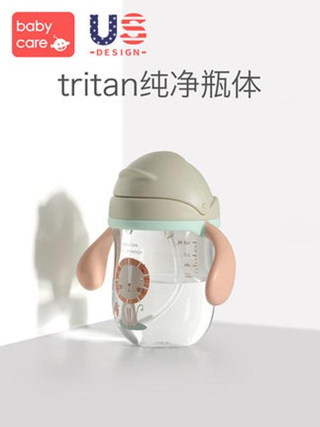 babycare婴童用品2019春夏婴儿学饮杯幼儿园宝宝防摔防呛带手柄重力球儿童吸管水杯