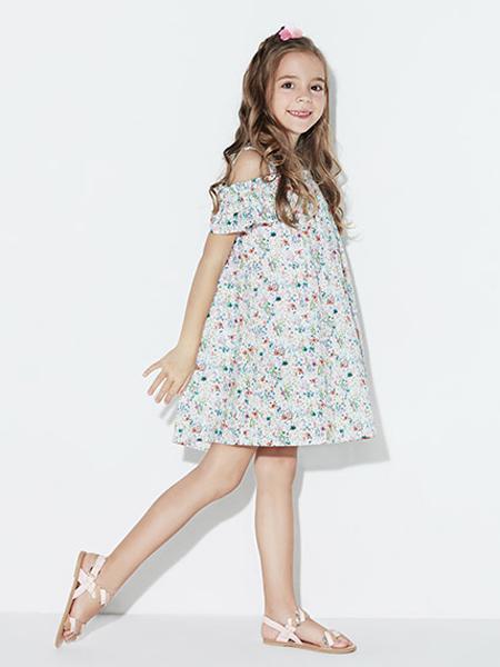 小笑牛童装品牌2019春夏新款韩版洋气公主裙连衣裙新款