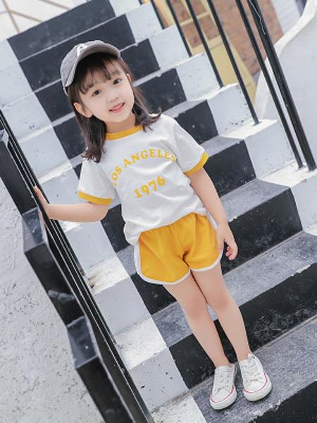 二丫 甜童装品牌2019春夏新款超洋气网红女童运动两件套