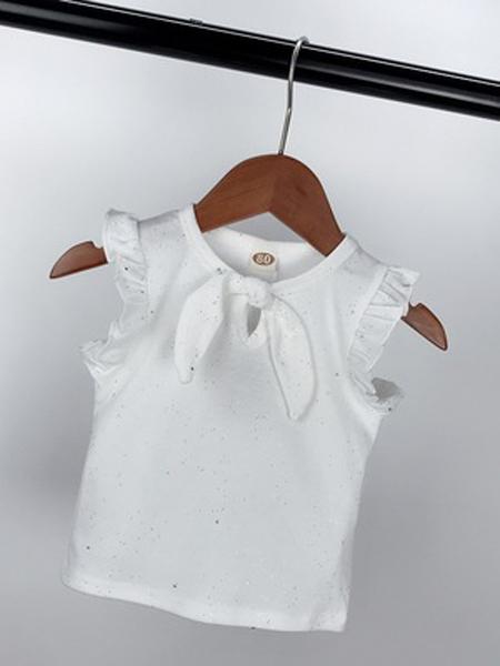 铠铠熊童装品牌2019春夏新款韩版时尚宽松百搭圆领无袖T恤