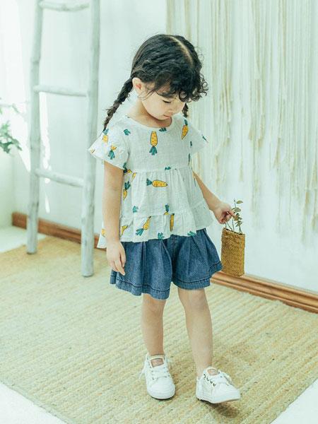 创印象童装品牌2019春夏新款女童童装儿童衬衣上衣