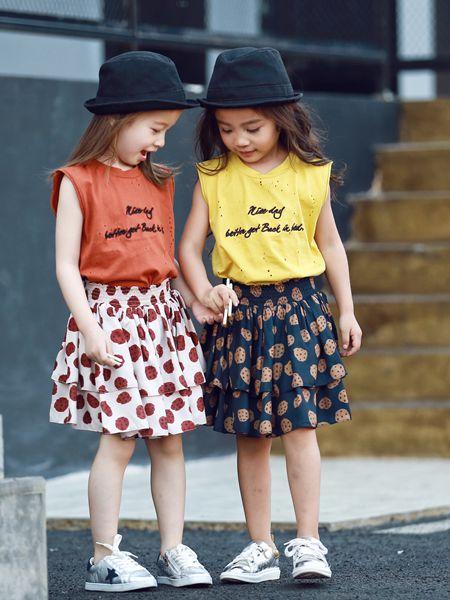 Apple Orange童装品牌2019春夏新款女童休闲韩版短袖上衣T恤百搭
