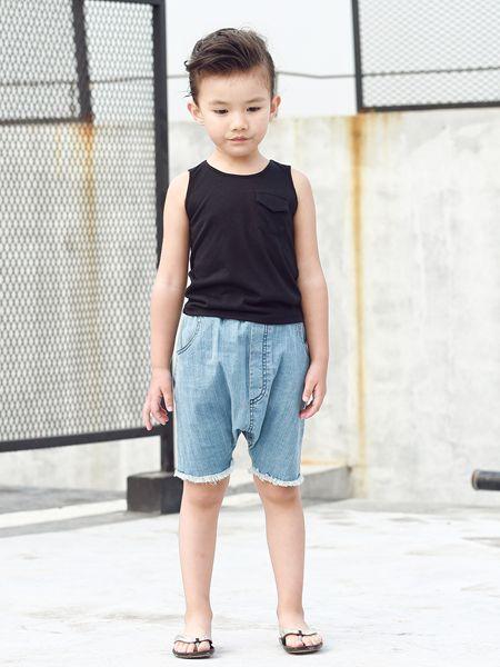 Apple Orange童装品牌2019春夏薄款修身纯色半袖简约百搭打底衫