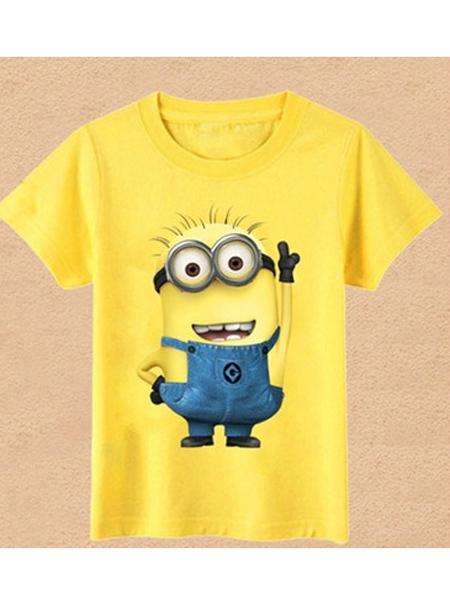 红泉树童装品牌新款韩版时尚宽松休闲百搭短袖T恤